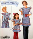 S 3701 SEW PATTERN DAISY KINGDOM CHILD MISS BIB APRON POCKETS YOKE STRAPS UNCUT