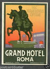 L30 ITALY 1920s Grand Hotel Roma Vintage Luggage Label Advertising