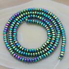 Hematite Gemstone Rondelle Spacer Beads 16 3mm 4mm 6mm 8mm 10mm