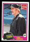 1981 Topps Coca Cola Tigers Kirk Gibson RC Rookie #11