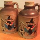 Pepper Vintage Pottery Shakers Oriental Handpainted Large Set Made Japan