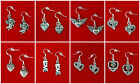 VINTAGE STYLE HEART DANGLE EARRINGS VALENTINES DAY GIFT 925 STERLING SILVER HOOK