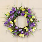 PRETTY FLORAL SPRINGTIME TULIP FLOWERS SUMMER DOOR WREATH WREATHS NEW