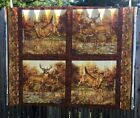 Wildlife Deer Fabric Panel Rustic Pillow Home Decor Sewing Material New