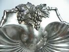 Barton Silverplate Scalloped Shell shape Serving Dish ~ Grape Motif