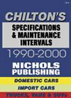 1990-2000 Automotive Specifications & Maintenance Intervals Chiltons Manual 3105