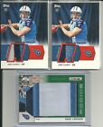 (3) JAKE LOCKER RC 3 COL PATCH LOT 2011 R&S # 10 JUMBO + 2 TOPPS