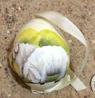Hand Painted Austrian Egg Easter Ornament Sheep