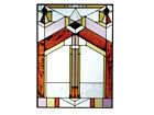 10x14 Stained Art Glass DECO TECTURAL Window Suncatcher