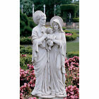 SPIRITUAL FAMILY MOTHER MARY JOSEPH BABY JESUS SMALL STATUE GARDEN HOME DECOR
