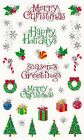 Mrs Grossmans Giant Stickers Christmas Holiday Reflections 2 Strips