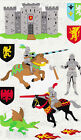 Mrs Grossmans Giant Stickers Knights Castle Jousting Armor 2 Strips