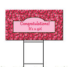 Baby Shower Birth Welcome To World Girl Custom Plastic Yard Sign FREE Stakes