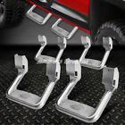 FOR FORD CHEVY GMC DODGE 2X PAIR BULLY POLISHED DIE CAST ALUMINUM SIDE STEPS BAR