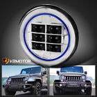 7 Round Jeep Motorcycle Cree LED Clear Projector Headlight Head Lamp