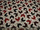 3 Yards Quilt Cotton Fabric - QT Bonjour French Country Rooster Red on Gray
