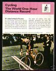 1977 Eddy Merckx World 1 Hour Distance Record Sportscaster Booklet NM