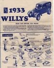 AMT  1933 Willys Model Kit Assembly Instruction Brochure 1/25 Scale