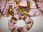 Pink Real Tree Camo deer fabric hair scrunchie bucks realtree camoflage hunting