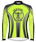 Primal Wear Old Fart Cycling Jersey HiViz Mens Long Sleeve with DeFeet Socks