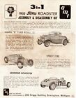 AMT 3 in 1 1032 GORD Roadster Assembly & Disassembly Kit Instruction 1/25/Scale