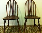 HEYWOOD WAKEFIELD American walnut wooden pair 2 chairs wishbone wood 1900s RARE!