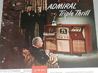 1948 Admiral advertisement, ADMIRAL Television Radio Record Player combo