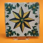 17th C polychrome Spanish Majolica Faience Wall Tile Delft c1600 no reserve