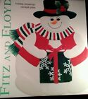 Fitz & Floyd Christmas Snowman Canape Cookie  Plate 10 in Happy Holidays 2003