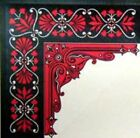 4 RED TRUNK INTERIOR corners decoration decal sticker decoration chest Steamer