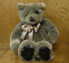 Unipak Plush Bear #1312S  GREY/CHARCOAL BEAR 9