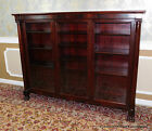 Antique Mahogany 19th Century Mahogany Triple Door Chippendale Style Bookcase