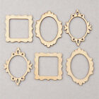 10pcs 3 Unfinished Frame Wooden Craft Shapes Supplies Hangers Cutout DIY