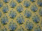 APRIL CORNELL YELLOW with BLUE FLOWERS TABLECLOTH 58