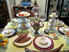 SPODE TEA CUP AND SAUCER  DINNERWARE 40PC.  MOSS ROSE SPODES JEWEL 6 SETTINGS