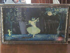 Signed Vintage Art Deco Picture  By Marygold Couple Dancing In The Moonlight