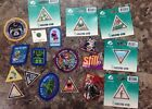 Lot of 18 Girl Scout Iron On Patches Badges All Different Unused and 1 Pin