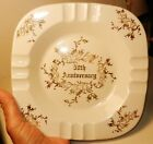 Homer Laughlin Large 50th Anniversary 22 Kt Gold Floral Designs-Made in USA 1955