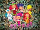 6 Rare HTF Brazil Estrela Brasilera Strawberry Shortcake Dolls in Outfits EUC