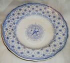 C1830 SAMUAL ALCOCK NAPLES SHIELD PATT. BLUE/WHT. 10 1/2