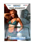 TNA Christy Hemme 2012 Reflexxions GREEN Authentic Autograph Card SN 1 of 5