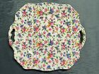 Royal Winton Grimwades England Old Cottage Chinz Pierced Handled Cake Plate