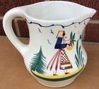 VINTAGE GERMAN PERSIAN WARE FAIENCE HAND PAINTED PITCHER 6 1/2