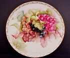Huge CHARGER Plate - Hand Painted Multicolor Grapes - SIGNED Winborn