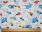 SNUGGLE FLANNEL CARS CAMPERCAMPING on the ROAD AGAIN 100 Cotton Fabric BTY