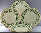 ESTATE- 5 PC LOT LENOX FINE BONE CHINA HOLLY HOLIDAY PATTERN DINNER PLATES 10+