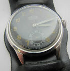 Rare German Wristwatch for Army Wehrmacht PERFECTA of period WW II  Military