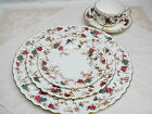 Pretty Vintage Floral Dinnerware Set for 6, Minton ANCESTRAL S376 China