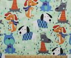 SNUGGLE FLANNEL MULTI COLOR DOGS with SWEATERS  SCARVESCotton FabricNEW BTY