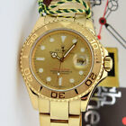 Rolex Yachtmaster Yellow Gold Champagne Dial 16628 40mm Rehaut  WATCH CHEST